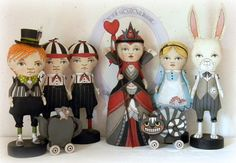 Alice in Wonderland folk art by Jo James & Dylan Curry, 'a mom-and-dad business, a two-person company of artists.'