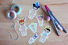 Set 6 stickers Sonny Angel x Disney : Mickey + Pinocchio + Bambi