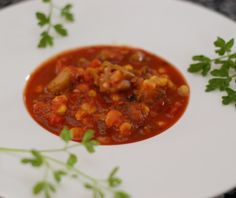 Creole Okra Corn Soup -