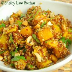 Indian Spiced Butternut Squash Tri-Colored Quinoa Salad