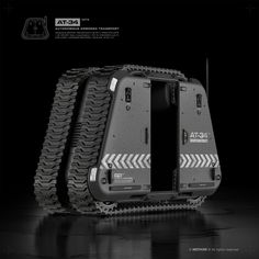 AT-34 'Autonomous armored transport' door system by moth3R