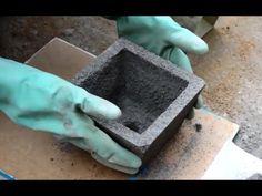 Como fazer vasos de cimento. Para rosa do deserto (Adenium Obesum) - YouTube