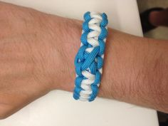 A paracord bracelet to support MRSA.  Its a form of staff infection that a buddy of mine survived