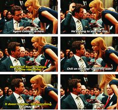 "In the middle of Tony's very important Senate hearing... (deleted scene from ""Iron Man 2,"" Robert Downey Jr. and Gwyneth Paltrow)"