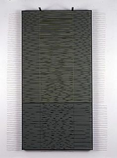 Jesús-Rafael Soto, Vertical Vibrante con Verde, 1999