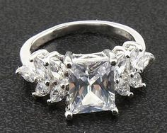 #jewelry Antique Natural Diamond Rings 3.52ct In 14kt Solid White Gold Size6 please retweet
