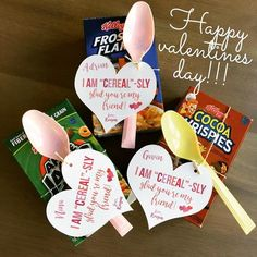 EDITABLE PDF Cereal-sly Glad You're My Friend Valentines, Printable Valentines, Kids Valentines, Digital Valentines, Cereal Valentine Tags Friend Valentine Gifts, Valentine Gifts For Kids, Diy Gifts For Kids, Homemade Valentines, Valentine Crafts, Be My Valentine, Diy For Kids, Crafts For Kids, Valentine Ideas