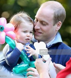 Princess Charlotte of Cambridge and Prince William, Duke of Cambridge at a children's party for Military families during the Royal Tour of Canada on September 29, 2016 in Victoria, Canada. Prince William, Duke of Cambridge, Catherine, Duchess of Cambridge, Prince George and Princess Charlotte are visiting Canada as part of an eight day visit to the country taking in areas such as Bella Bella, Whitehorse and Kelowna  (Photo by Chris Jackson - Pool/Getty Images)