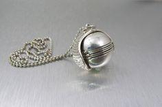 #VogueTeam #EtsyGift #vintage Sterling Photo Locket Pendant Necklace, Ball Locket, Sphere Globe Multi Photo Locket, Vintage Sterling Locket Necklace, Ball Bead Chain
