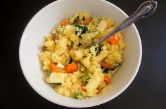Orange and almond couscous