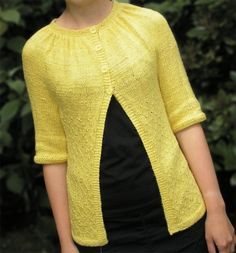 Knitting pattern for Tamzin Cardigan - #ad Sweater features a softly ruched neckline and subtle lace body. Finished chest circumference: 29¼ (31¼, 33¼, 35¼, 37¼) (39¼, 41¼, 43¼, 45¼, 47¼) in / 74.5 (79.5, 84.5, 89.5, 94.5) (99.5, 105, 110, 115, 120) cm, with bands overlapped. tba