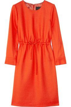 Drawstring waist dress with 3/4 sleeves