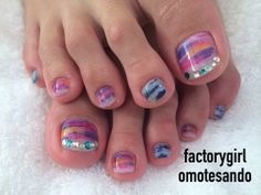 Toe nails design Cute Toenail Designs, Pedicure Designs, Pedicure Nail Art, Toe Nail Art, Great Nails, Love Nails, My Nails, Pretty Toe Nails, Pretty Toes