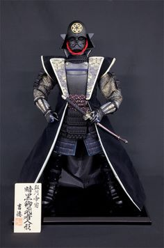 Darth Vader Goes Back to His Samurai Roots for New Doll - Interest - Anime News Network:UK Ninja, Dc Comics, Samurai Artwork, Star Wars Design, Warrior Costume, Japanese Warrior, Star Wars Models, Star Wars Wallpaper, Star Destroyer