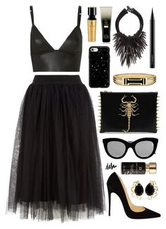 """""""Scorpio"""" by virginia-laurie ❤ liked on Polyvore featuring T By Alexander Wang, Christian Louboutin, Victoria Beckham, Casetify, Bounkit, Tory Burch, Eskandar, MAC Cosmetics, Yves Saint Laurent and Oribe"""