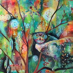 Painting by the talented Jennifer Currie - love all the colors.