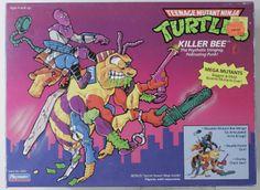 Playmates Toys vintage TMNT Teenage Mutant Ninja Turtles Killer Bee MISB Ninja Turtle Figures, Ninja Turtle Toys, Tmnt Turtles, Teenage Mutant Ninja Turtles, Retro Toys, Vintage Toys, Vintage Playmates, Modern Toys, Comic Book Heroes