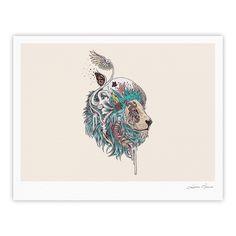"Mat Miller ""Unbound Autonomy"" Abstract Lion Fine Art Gallery Print"
