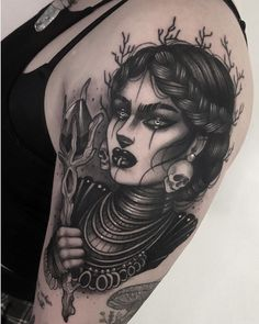 [New] The 10 Best Tattoo Ideas Today (with Pictures) - Swamp witch done during my guest at a few weeks ago thank you Eliza . Skull Girl Tattoo, Girl Face Tattoo, Medusa Tattoo, Girl Tattoos, Chest Piece Tattoos, Pieces Tattoo, Body Art Tattoos, Neck Tattoos, Dark Tattoo