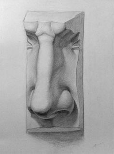 Figure Drawing Tutorial, Sketches Tutorial, Anatomy Sculpture, Sculpture Art, Art Sketches, Art Drawings, Nose Drawing, Still Life Drawing, Anatomy Drawing