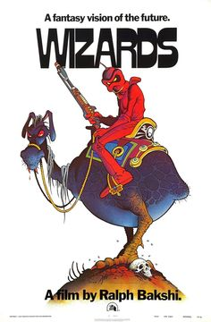 VAUGHN BODE - art for Wizards by Ralph Bakshi - 1977 poster