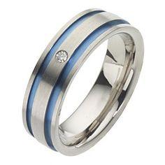 Men's Titanium Diamond Ring - Product number 8226180