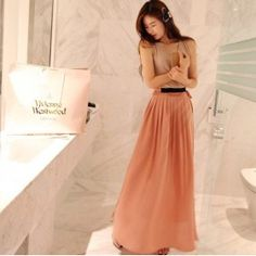 Pleated Skirt with Pocket