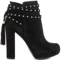 Jessica Simpson Women's Marguerit - Black Lux Kid Sd ($103) ❤ liked on Polyvore featuring shoes, pumps, boots, black, black block heel pumps, black pumps, jessica simpson pumps, black strap pumps and platform pumps