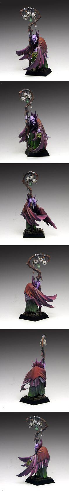Vampire Count Necromancer. Love everything, especially the purple.