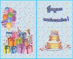 Carte d'anniversaire gratuite à imprimer.