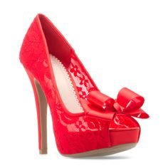 Analisa Red Lace Heels