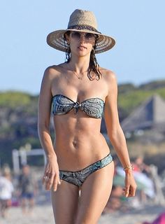 Pin for Later: Alessandra Ambrosio Hits Up the Beaches of Ibiza With Her Banging Bikini Body