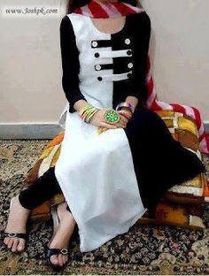 Affordable Stylish Kurtas Collection 2013 For Women 006 Kurta Designs Women, Salwar Designs, Kurti Neck Designs, Dress Neck Designs, Blouse Designs, Indian Attire, Indian Wear, Stylish Dresses, Simple Dresses