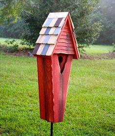 Air Castle Bird House Redwood