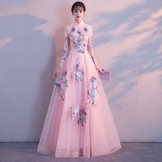 LPTUTTI Embroidery Half Plus Size New For Women Elegant Date Ceremony Party Prom Gown Formal Gala Luxury Long Evening Dresses _ {categoryName} - AliExpress Mobile Version - Pretty Prom Dresses, Dressy Dresses, Cute Dresses, Dress Brukat, The Dress, Beautiful Evening Gowns, Beautiful Dresses, Indian Gowns Dresses, Evening Dresses