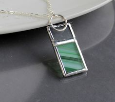 Green Swirl Color Bar Stained Glass Necklace in the Handmade Gifts and Supplies community auction on @Tophatter http://tophatter.com/auctions/16955?campaign=future=internal