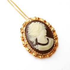 Vintage New Old Stock Cameo Pendant  & Brooch by VintageLancaster, $20.00
