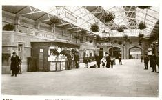 The postcard shows the interior of the Morecambe Promenade Railway Station, which opened on Marine Road Central on 24 March and was a stop on the Midland Railway Company's services between Leeds / Bradford and Heysham Harbour. Morecambe, Seaside Towns, Cumbria, Train Station, Far Away, North West, To Go, England, Leeds Bradford