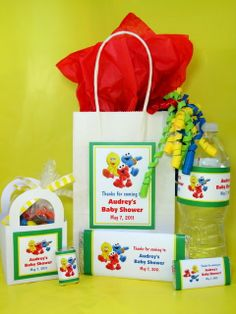 Sesame Street Baby Shower Ideas | Details about Sesame Street Baby Shower PDF CD Invitation Favor Gum ...