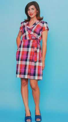 8f7ed806903 Gertie s New Blog for Better Sewing  The Wrap Dress from Gertie Sews Vintage  Casual Check