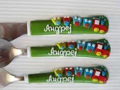 Children's  Flatware Custom Order Baby Cutlery by cutlerydesignJS