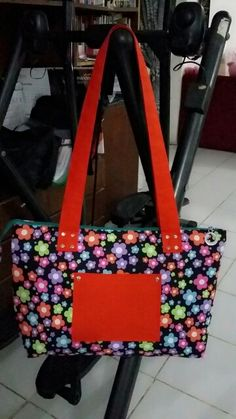 Big bag with flowers