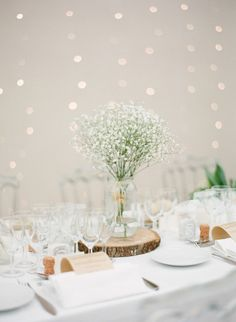 This is a beautiful example of another look with Baby's Breath. This would make for a great centerpiece for the DIY bride - Baby's Breath is hardy, affordable, and long-lasting! Shop Baby's Breath year-round at GrowersBox.com.
