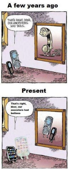 Phone development/history - technology moving at the speed of light.........
