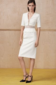 Altuzarra Resort 2015 Fashion Show - Emma Waldo Love the blouse separate. Skirt is kinda meh.