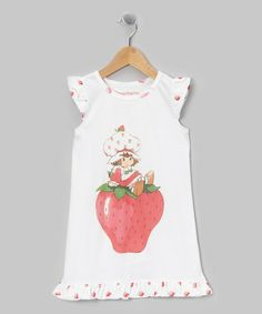 Take a look at this White Strawberry Shortcake Ruffle Gown - Toddler by Strawberry Shortcake on #zulily today!