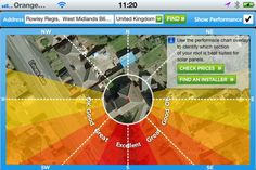 Solar Panel Suitability Checker app for your iPhone or iPad. Pretty cool.