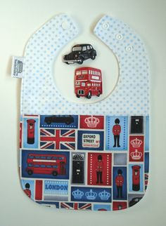 London Baby Bib / Fit for a royal baby / baby by TextileTrolley, $12.00