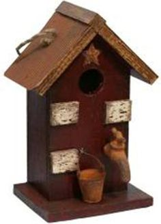 Garden Decoration HT121007BUR Birdhouse 12Inch Burgundy <3 Offer can be found by clicking the image