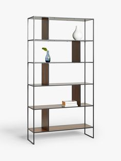 House by John Lewis Dice Shelving Unit Bookcase at John Lewis & Partners Free Standing Shelving Units, Open Shelving Units, Lacquer Furniture, Living Room Shelves, Curtains With Blinds, Do It Yourself Home, Wood Veneer, Living Room Designs, Bookcase